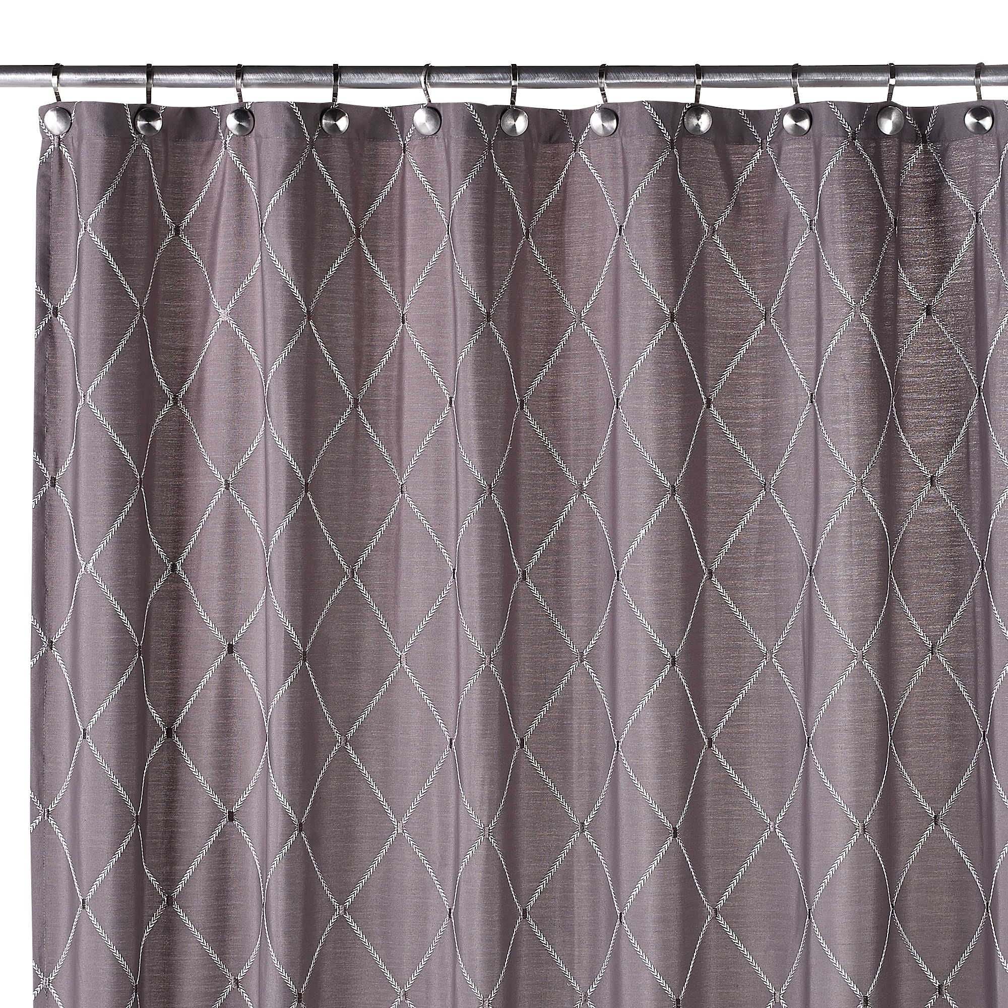 Wellington inch w x inch l shower curtain in grey bath ideas