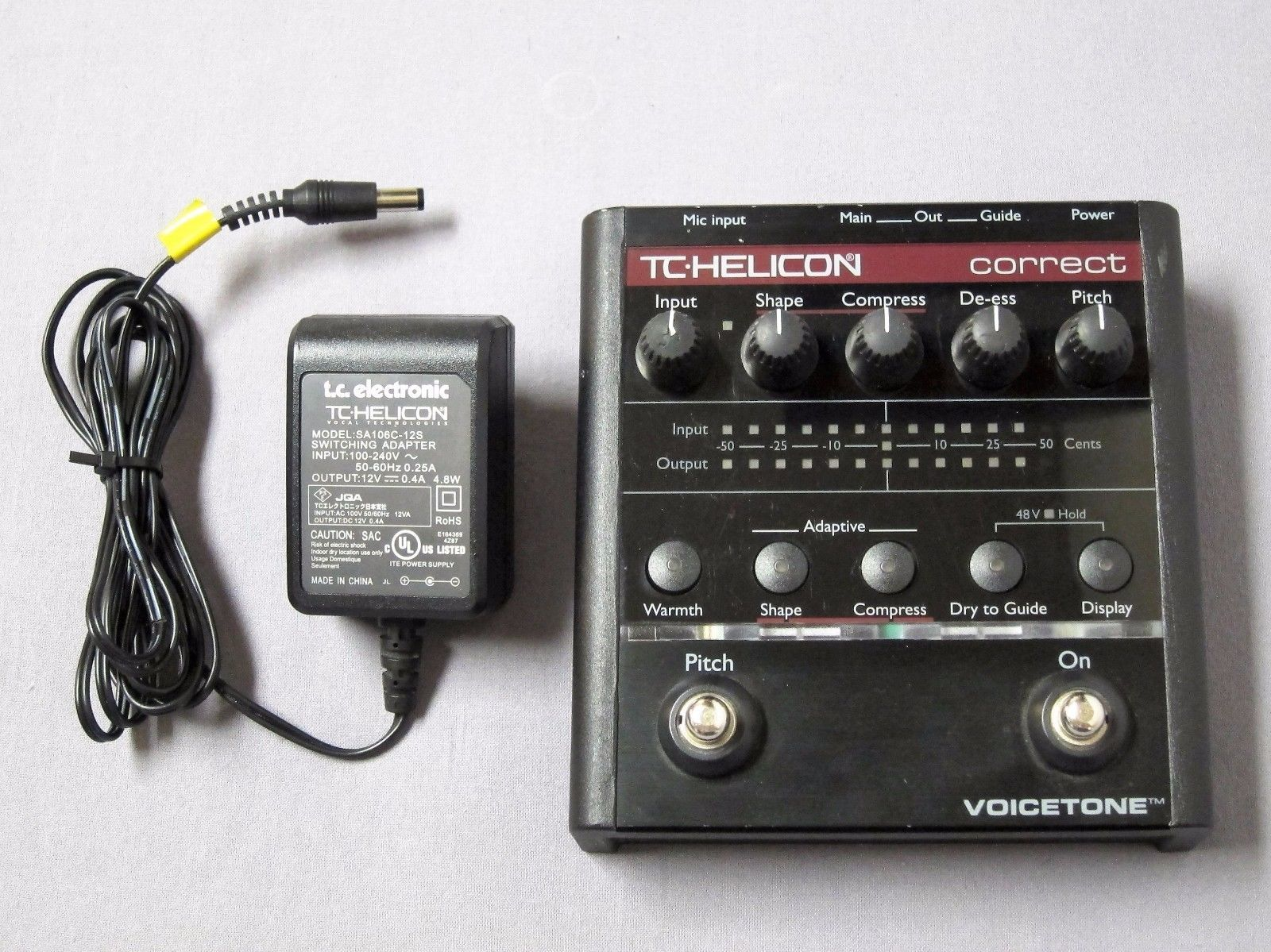 TC Helicon Voicetone Correct Vocal Tone Pedal Pitch Correction Processor Effect