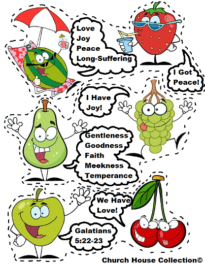 Fruit Of The Spirit Free Printable Template Cutout Activity Craft ...