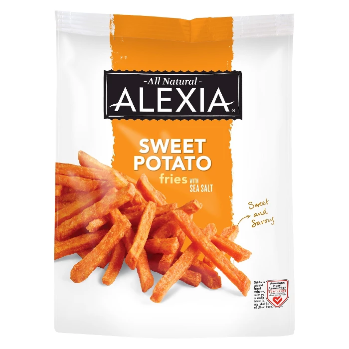 Alexia All Natural Frozen Sweet Potato Fries 20oz Frozen Sweet Potato Fries Alexia Food Crispy Sweet Potato Fries