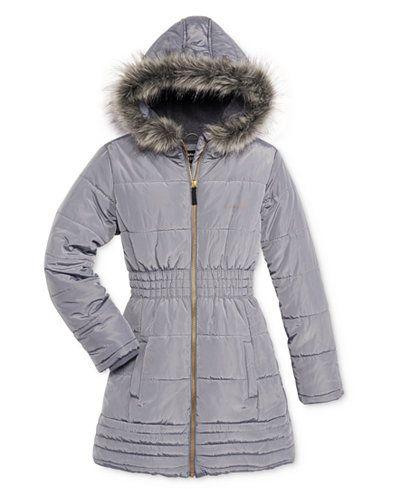 cb9160ce0 Calvin Klein Everest Puffer Jacket with Faux-Fur Trim, Toddler Girls ...