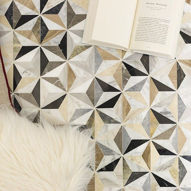 This Tile Makes Us Smile Check Out This New Geometric Marble