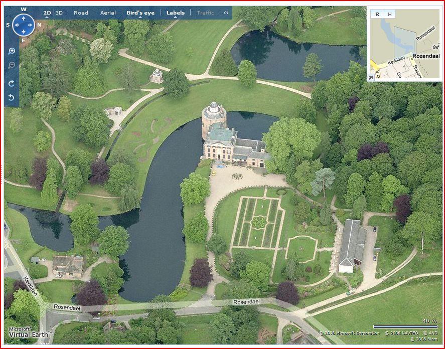 The world from a birds eye view Rosendael Castle Gelderland The
