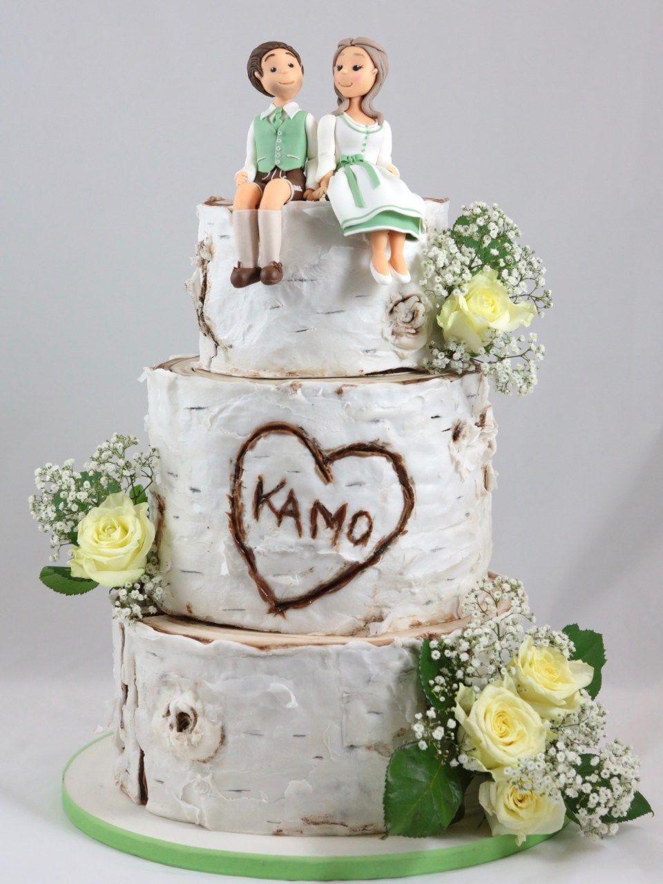Wedding Birch Birke Torte Hochzeit Cake Tracht Waver Paper 50