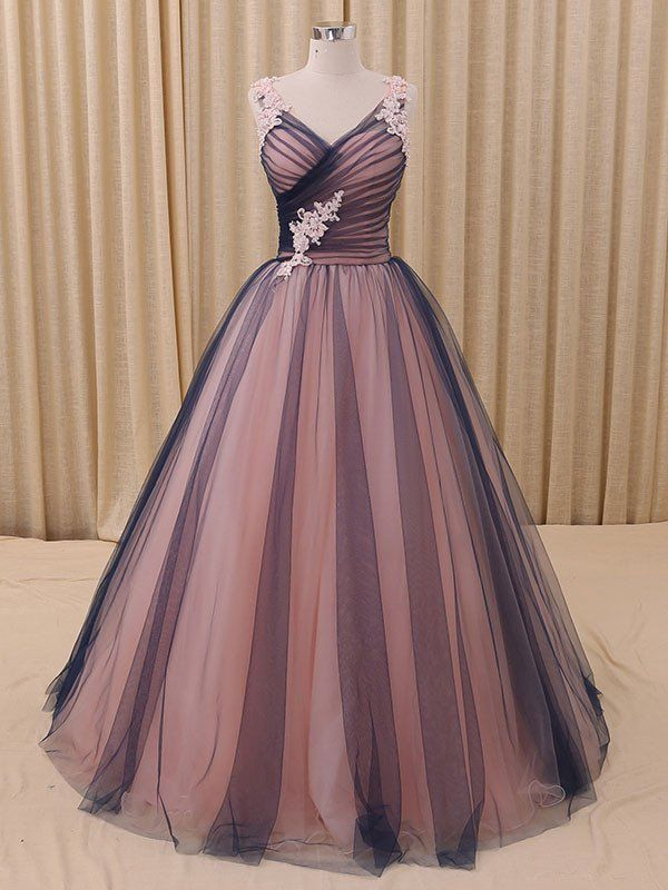 Navy Blue Princess Tulle Ball Gown Formal Evening Dress | One day ...