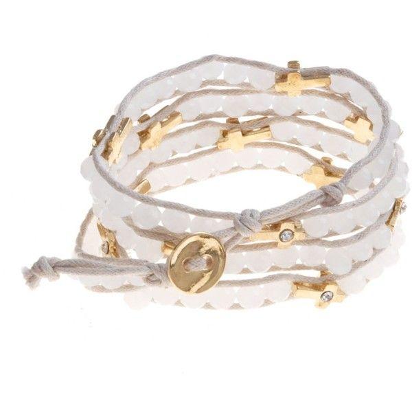 White Cross Wrap Friendship Bracelet ($9.07) ❤ liked on Polyvore