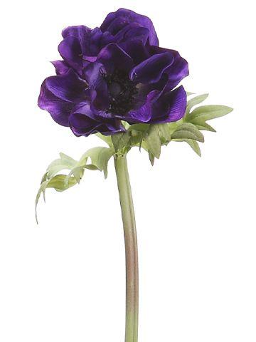 Royal Purple Anemone Spray Wedding Flowers