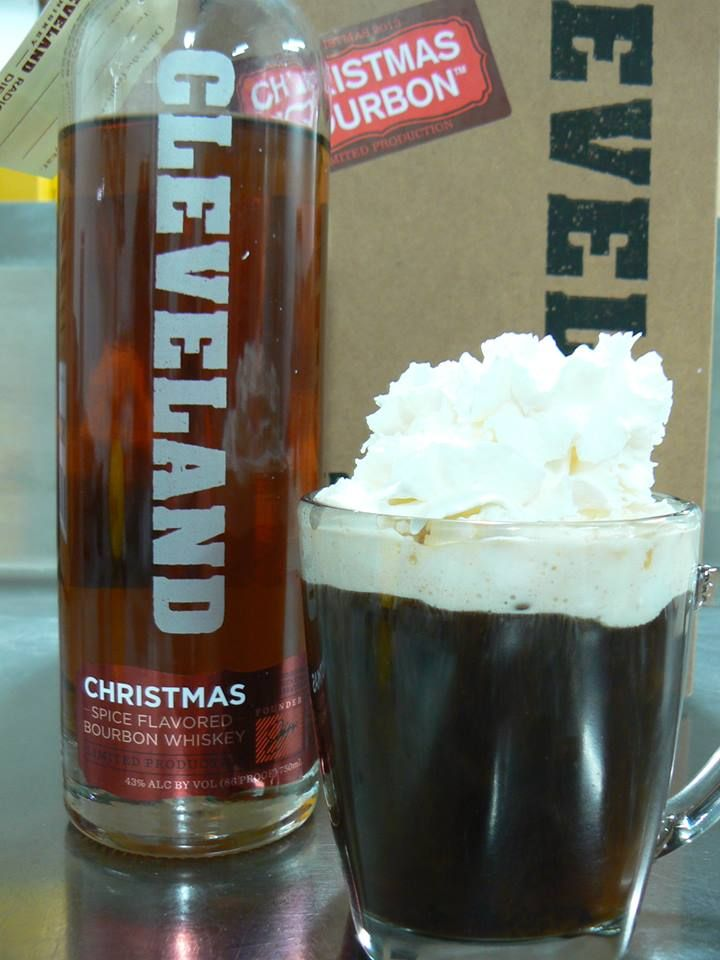 Cleveland Christmas Bourbon.Cleveland Irish Christmas 4oz Freshly Brewed Coffee 2oz