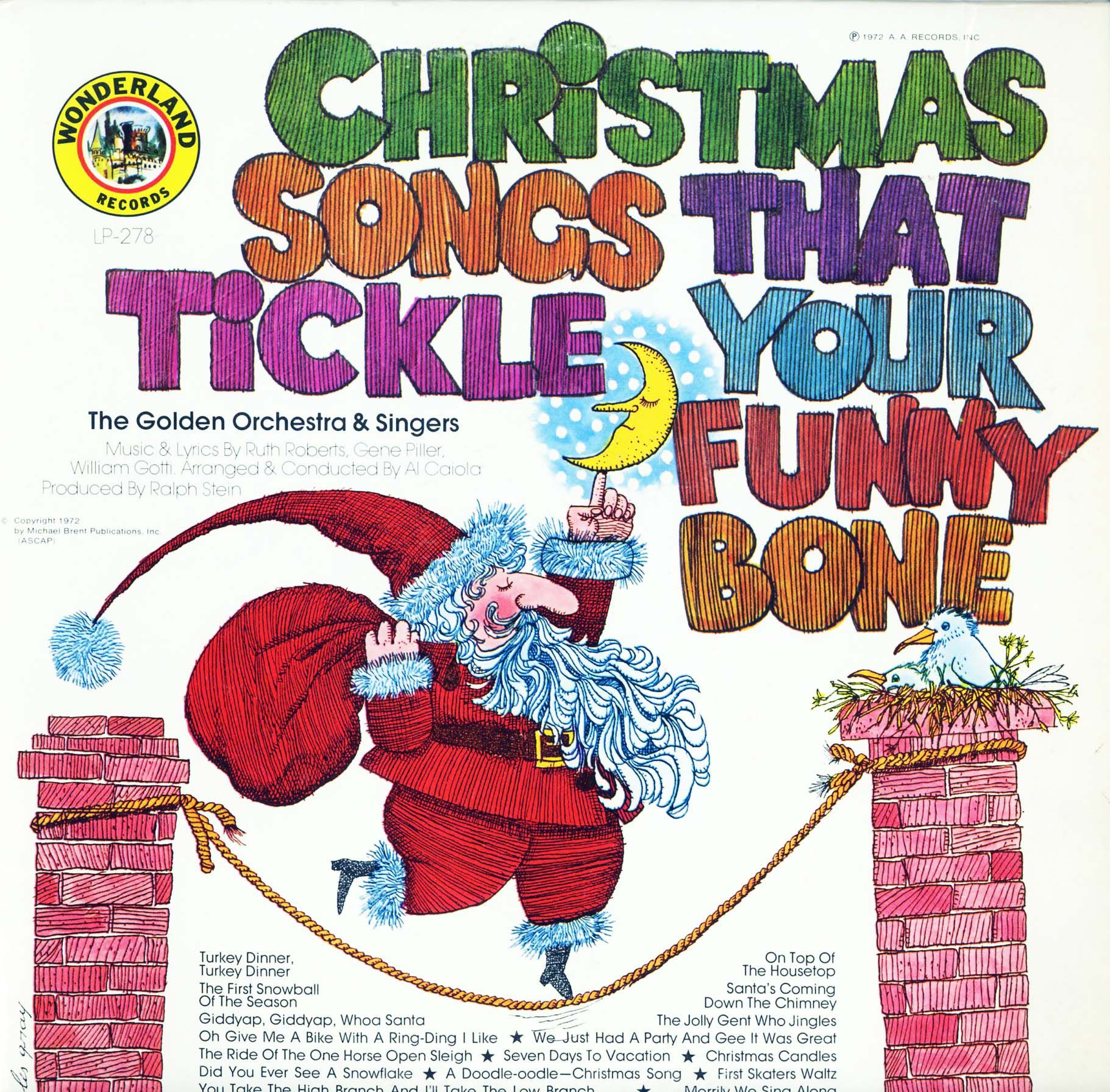 Golden Orchestra & Singers - Christmas Songs That Tickle Your Funny Bone