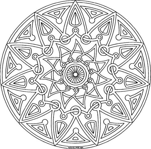 Tribal art coloring pages ~ Aztec, : Aztec Tribal Coloring Pages | Mandala coloring ...