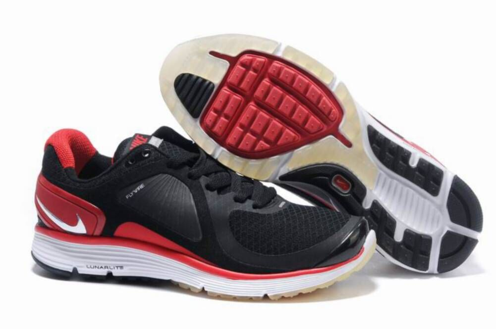 c5376631056 Mens Nike Lunar Eclipse Black Red Shoes