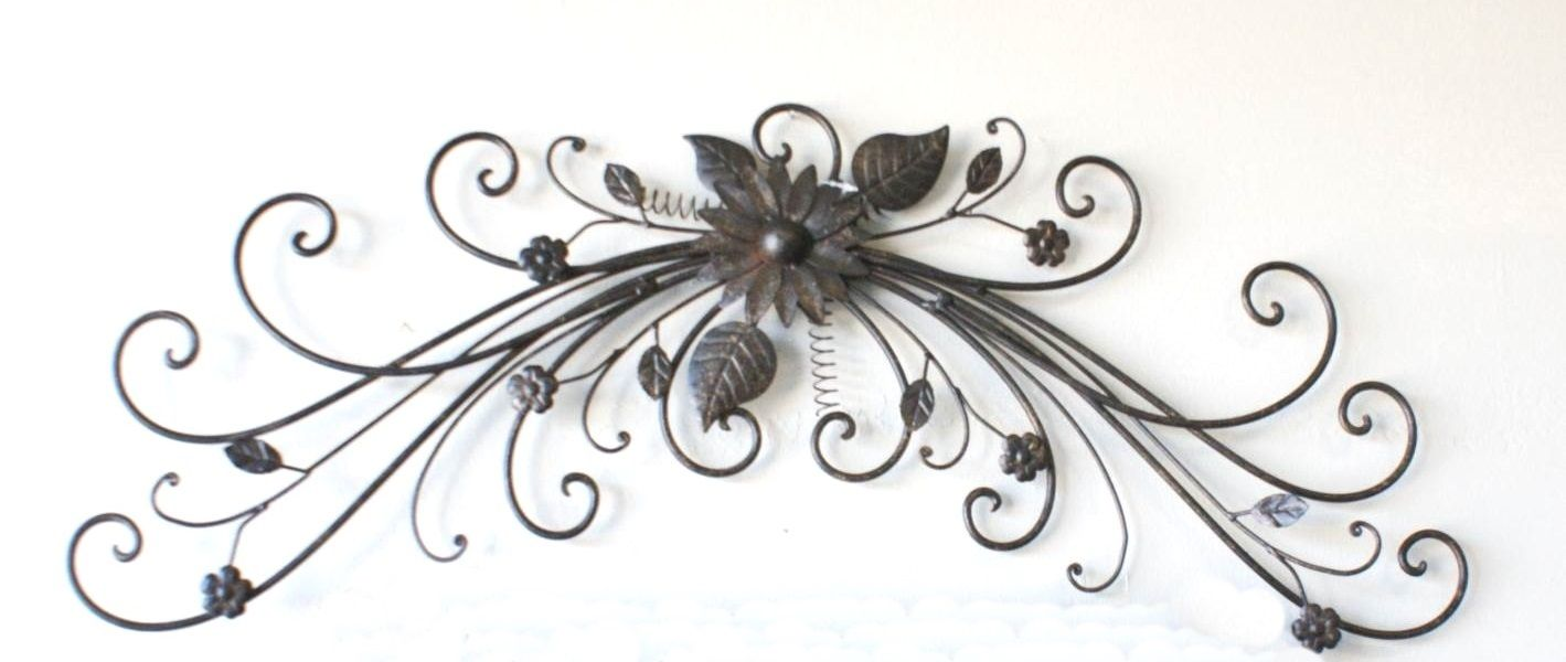 Rot Iron Wall Decor Wrought Iron Fleur De Lis Wall Decor  Indoor Outdoor Wrought