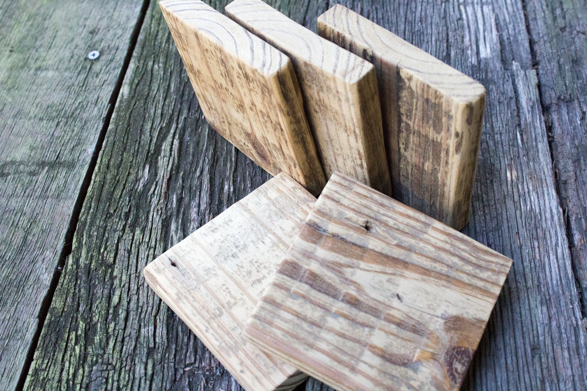 Handmade Reclaimed Wood Coasters Small Trivet Rustic Kitchen Home