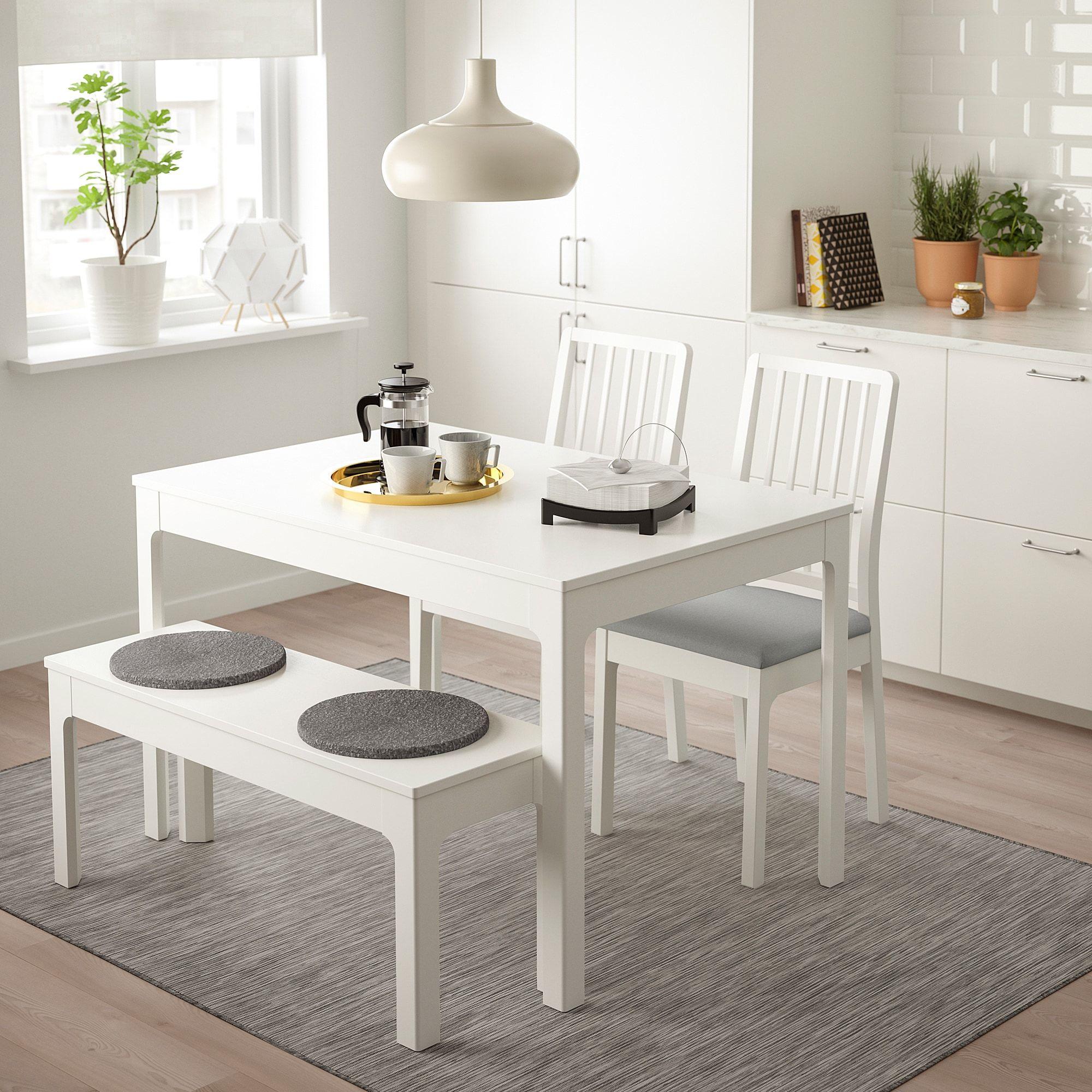 Ekedalen Ekedalen Table 2 Chaises Et Banc Blanc Orrsta