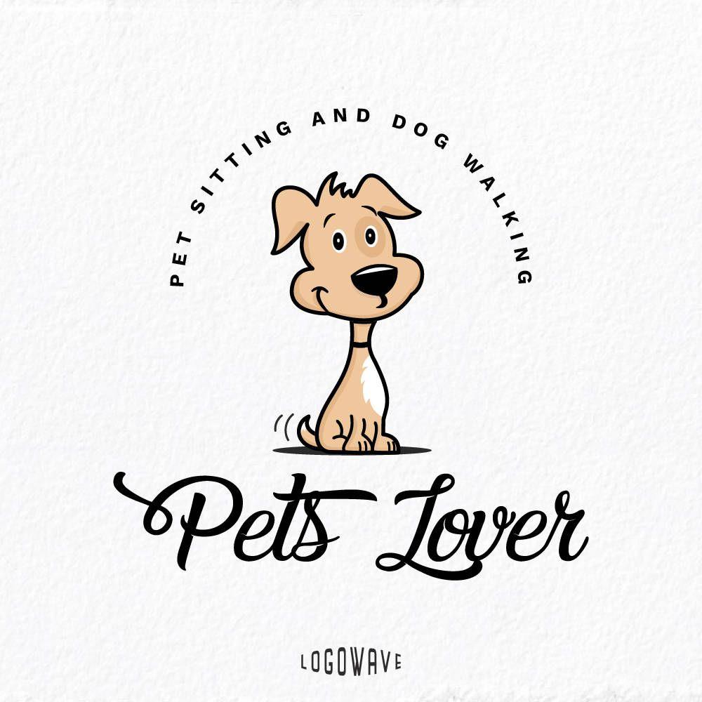 Dog Logo Dog Walking Logo Dog Pet Sitting Logo Pet Walking Logo