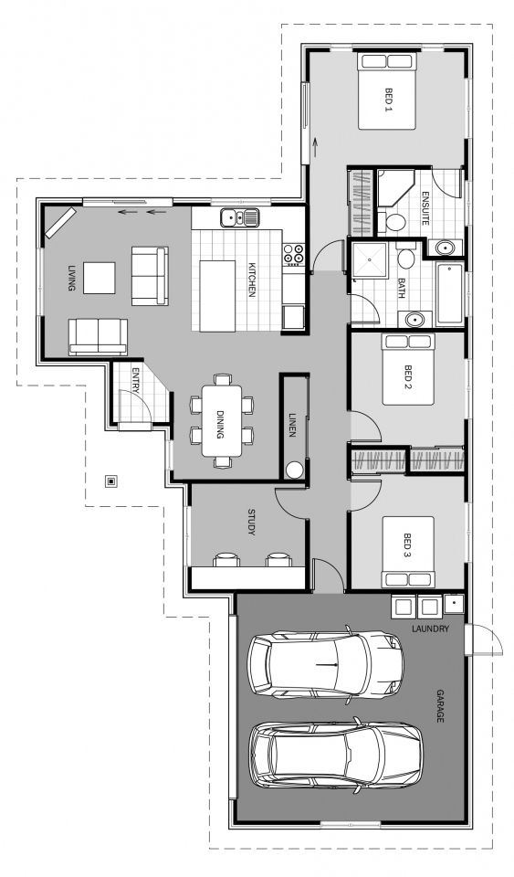 Halo Floorplan 161m2 My House Plans Modern House Floor Plans Floor Plans