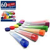 #9: Silicone Ice Pop Molds and Ice Pop Maker Set of 6 Clear Tubes Plus 60 Recipes Ebook