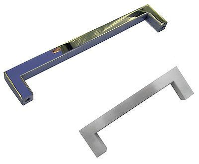 "SQUARE SS BAR PULL 3.75"" 5"" 8"" 10"" 12.5"" 18"" 24""  KITCHEN CABINET DOOR HANDLE"