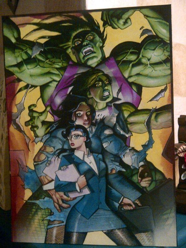 bisley she hulk transformation published art for sale