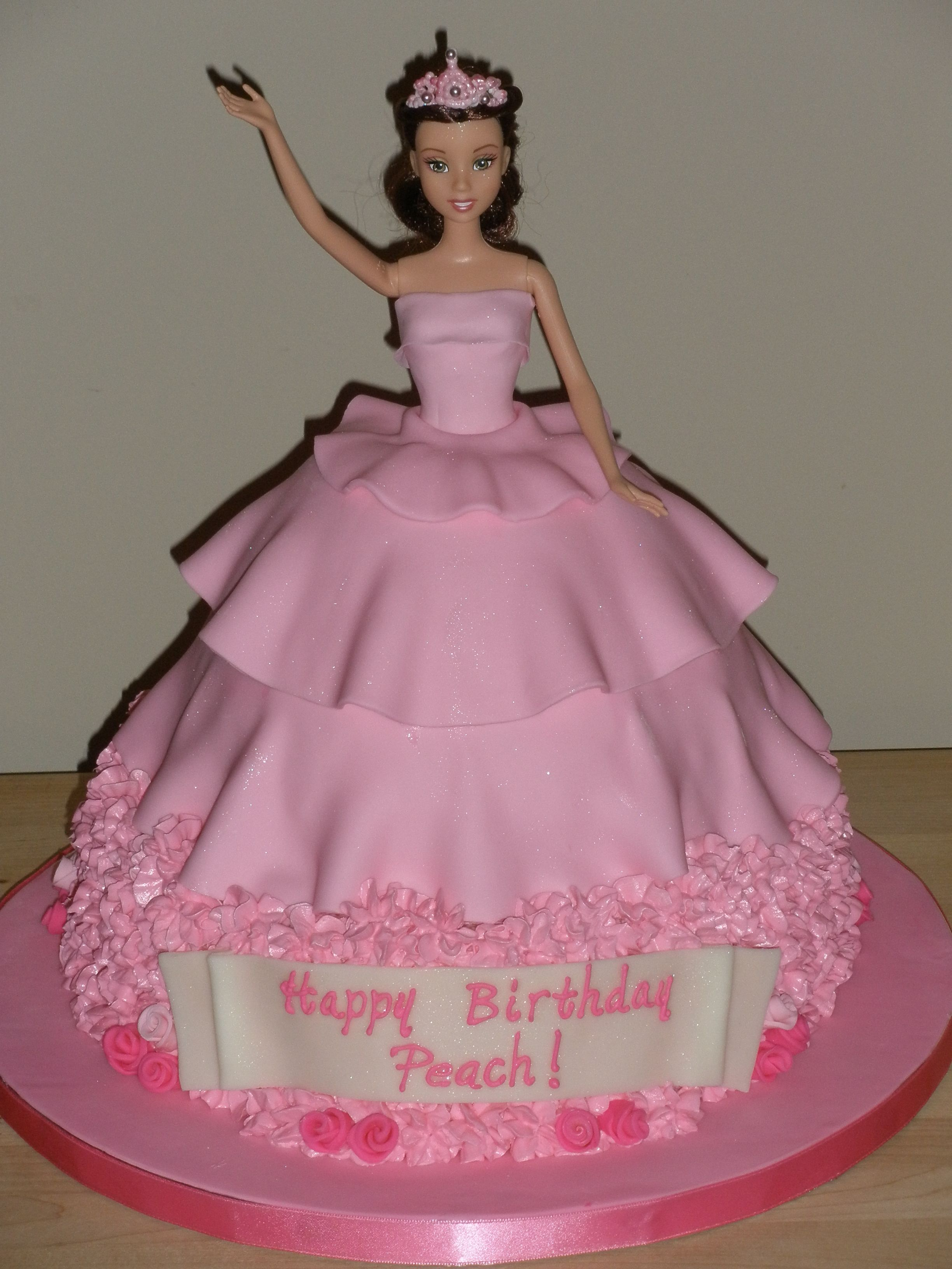 Pink Doll Cake Children S Birthday Cakes Doll Cake Barbie Doll Cakes Barbie Cake