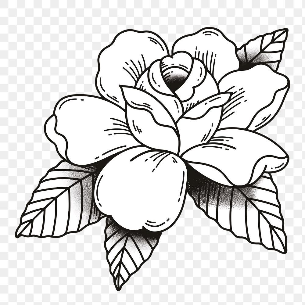 Black White Rose Tattoo Design Png Premium Image By Rawpixel Com Noon Black And White Rose Tattoo Rose Tattoo Design White Rose Tattoos