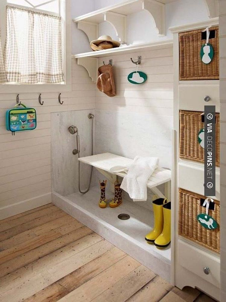 Install  simple dog bath in your entry way to easily clean mud off boots home improvement ideas make living space even more awesome also rh uk pinterest