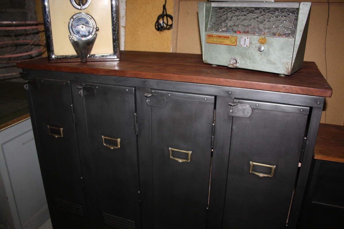 Meuble Vestiaire 4 Portes Atelier Deco Industriel Nimes Locker Storage Storage Home Decor