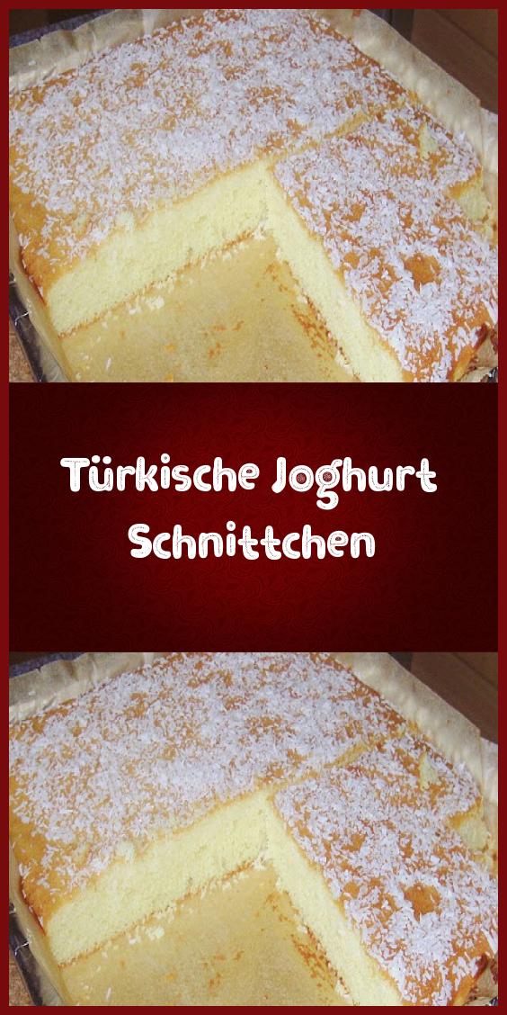 Türkische Joghurt Schnittchen #dessertbars