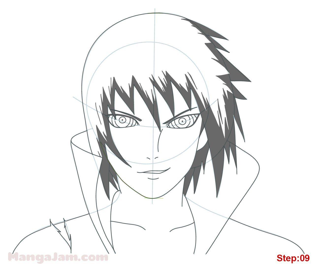 How To Draw Sasuke Rinnegan From Naruto Desenho De Personagens