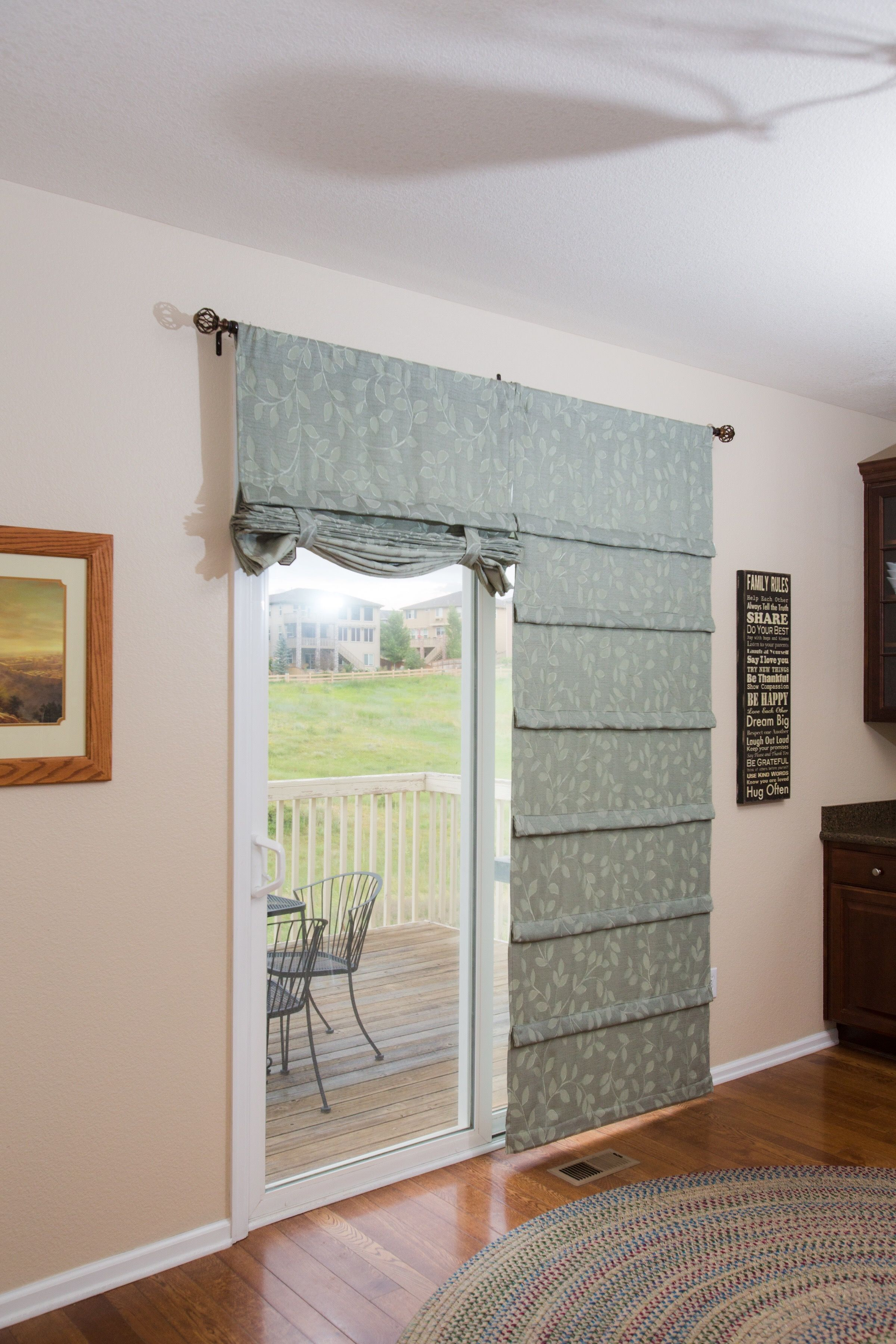 Off White Sliding Glass Door Curtain Shade in Crafts