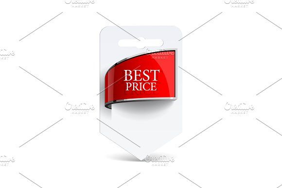 Sale label Blank paper with ribbon @creativework247 | Graphics ...