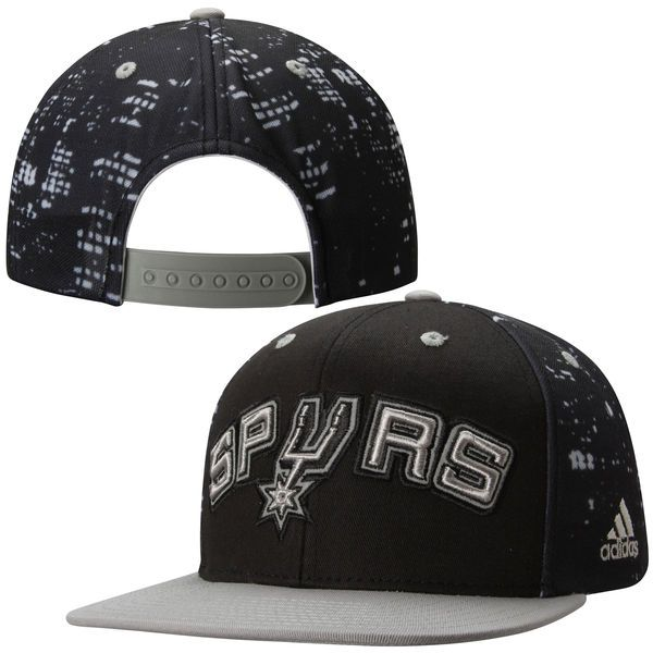 f8ec22f6393 San Antonio Spurs adidas City Lights Snapback Hat - Black Gray -  25.99