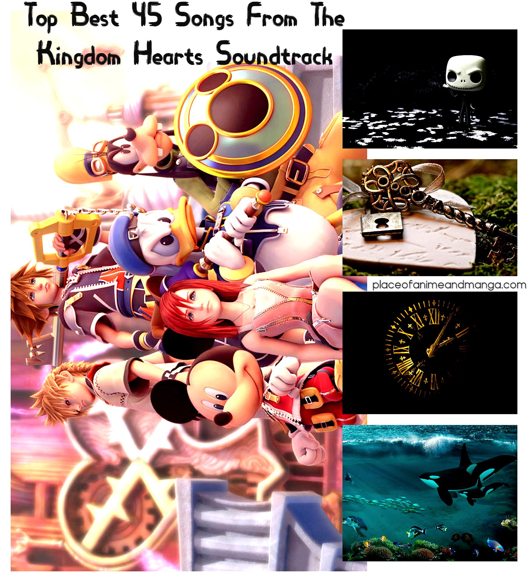 top 45 best music songs from kingdom hearts 1 2 3 キングダム ハーツ rpg square enix game music kingdom hearts soundtrack kingdom hearts japanese animation
