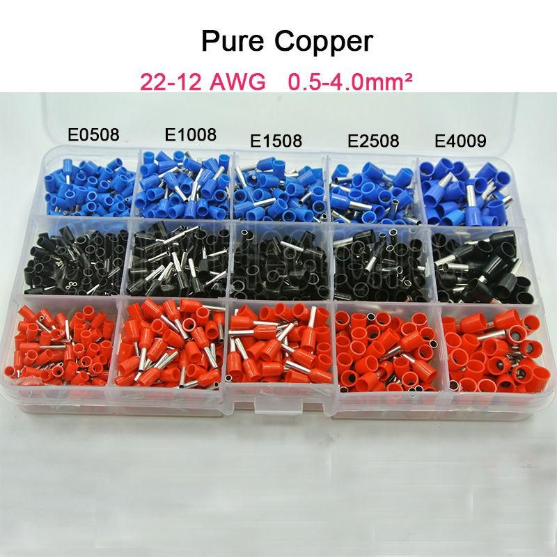 Visit To Buy 1065pcs Set 3 Colors 22 12awg Wire Copper Crimp Connector Insulated Cord Pin End Terminal Bootlace Coo Copper Electronic Accessories Pure Copper