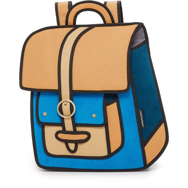 Jumpfrompaper Traveler Backpack 1 360 Sek Liked On Polyvore Featuring Bags Backpacks Blue Zip Beige Bag Flap Travel And