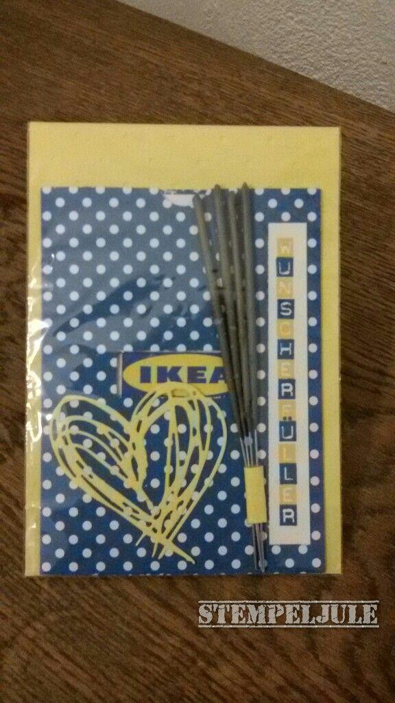 Ikea Gutschein nett verpackt  Wunscherfller  Geschenke