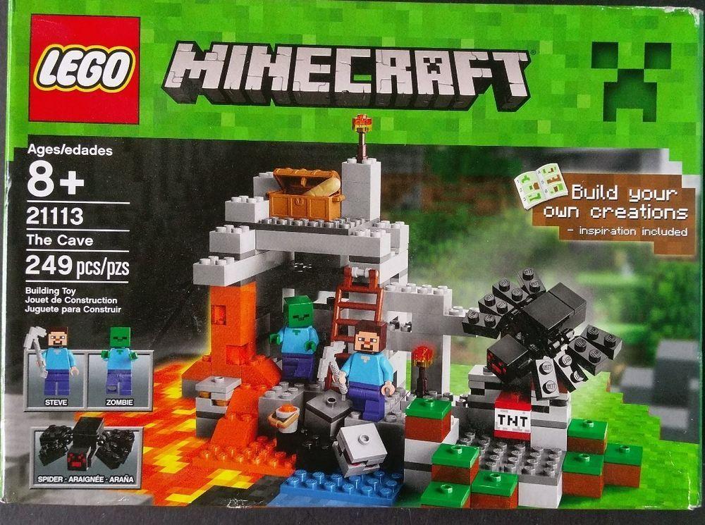 Lego Set Pieces The Cave Minecraft W Steve Zombie - Minecraft hauser klonen