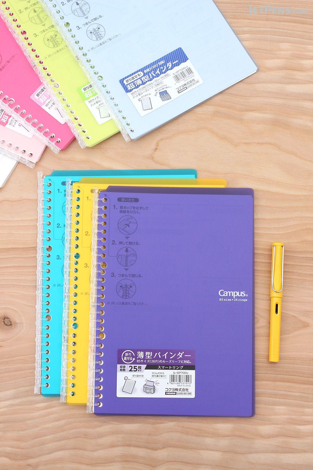 Useful New Kokuyo Biz Edge Title 5mm Grid Ruler Soft Ring Note Book Black B5 A5 Big Clearance Sale