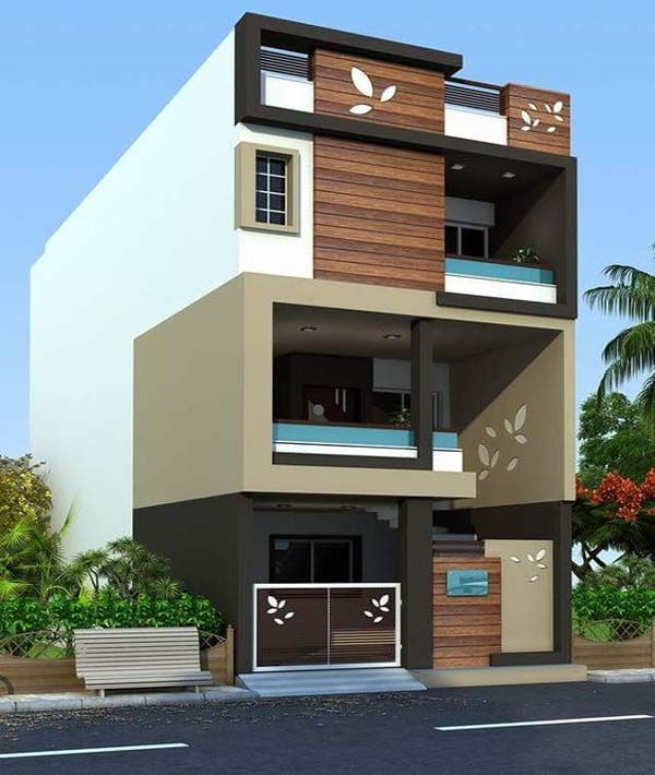 Modern Residential Exterior By Ar Sagar Morkhade: Exterior Elevations Of Independent Houses Design