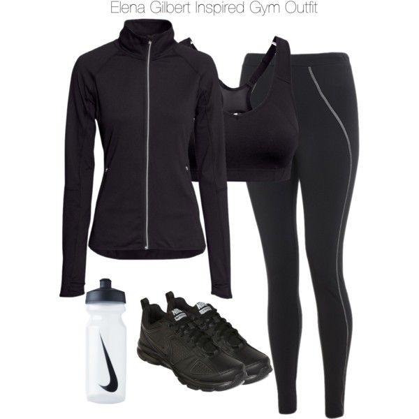 """""""The Vampire Diaries - Elena Gilbert Inspired Gym Outfit"""" by staystronng on Polyvore"""