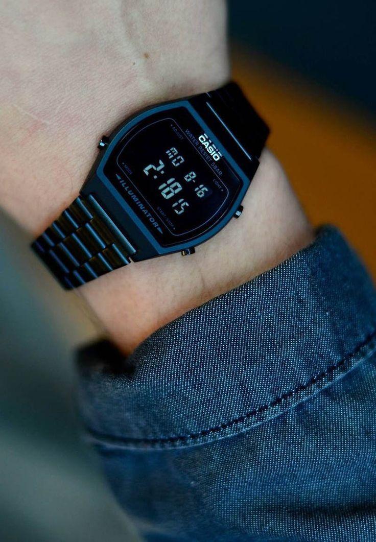 Casio Digital Black Stainless Steel Watch How Cool Is This Jam Pria Pakaian Pria Setelan Pria