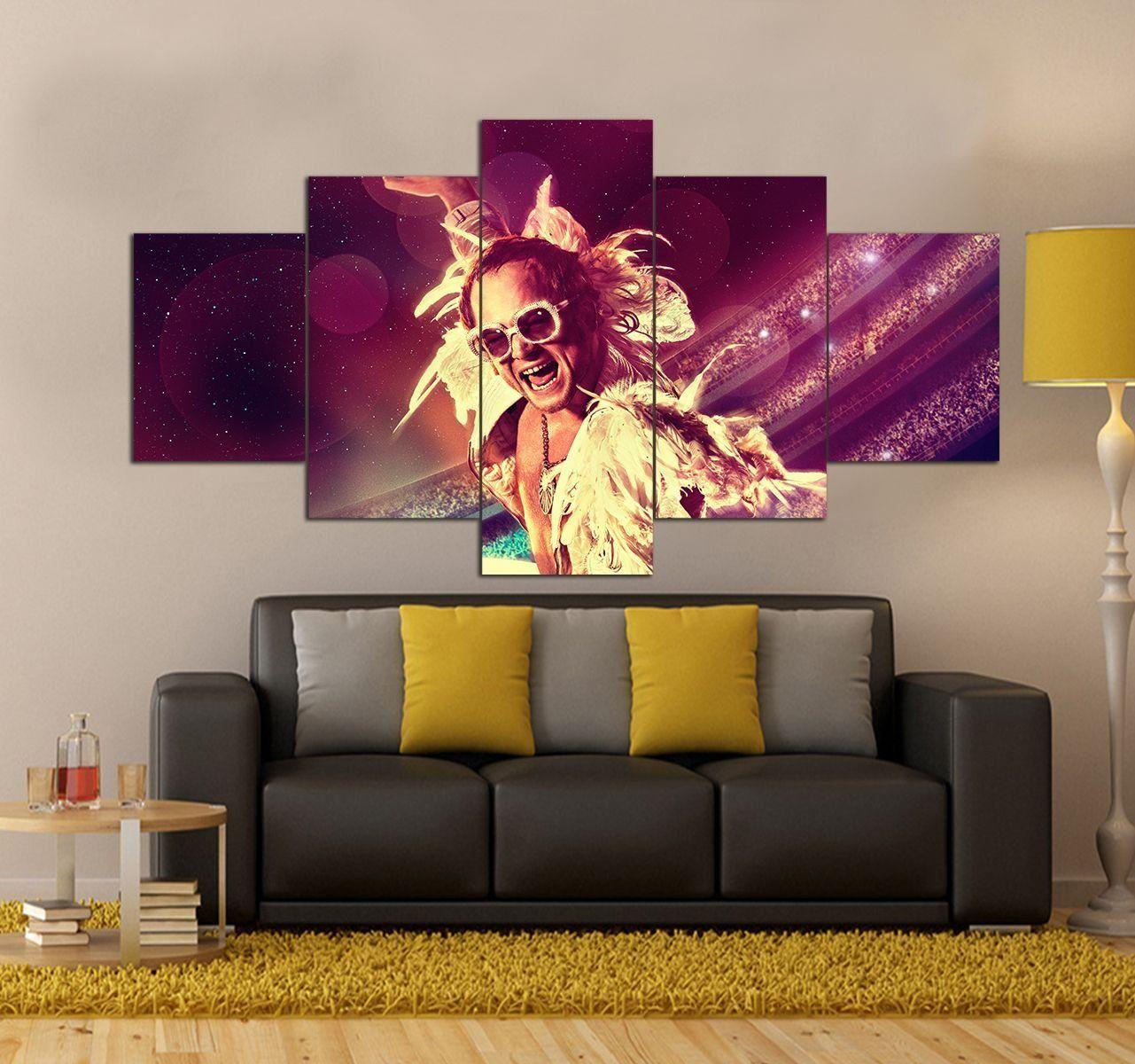 Rocketman Movie Canvas Wall Art Set Movie 5 Piece Canvas Art Prints In 2020 Canvas Wall Art Set 5 Piece Canvas Art Canvas Art Prints