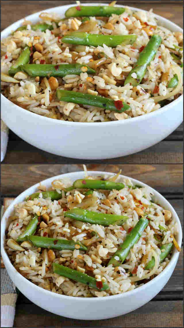 Asparagus peanut fried rice pinterest rice recipes vegan asparagus peanut fried rice is a healthy flavorful and easy to make vegan rice recipe prepared in less than 20 minutes rice dinner lunch brunch vegan ccuart Choice Image