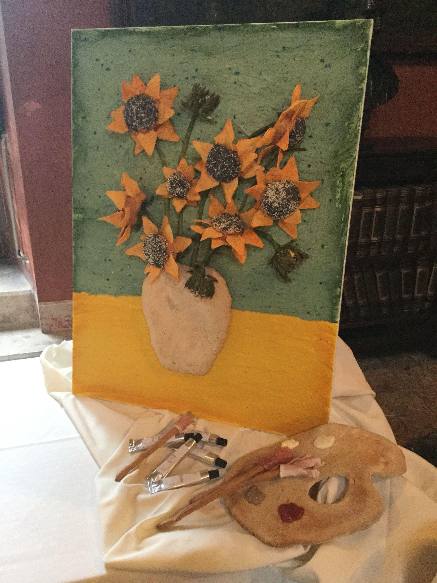 Girasoli di Van Gogh versione VisualFood... Si mangia tutto!!!