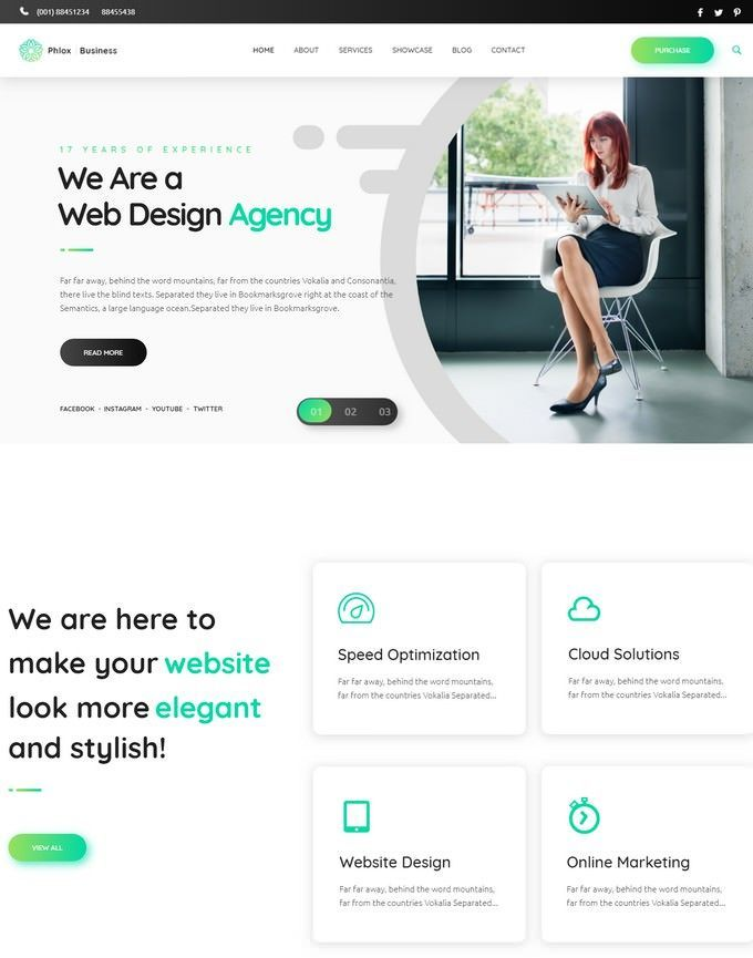 Cobus Creative Digital Agency Website Template 68900
