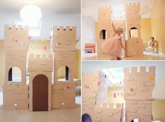 Aus Pappe Schloss Kinder Spielzimmer Basteln Marqueta De Temas