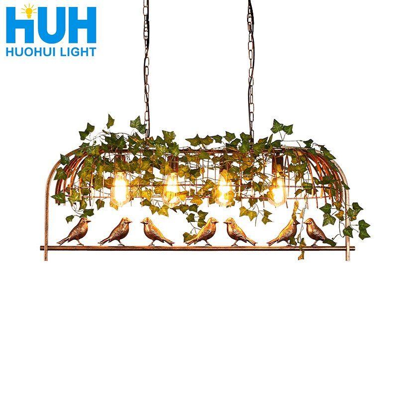 Billig Pendelleuchtenkaufen Sie Direkt Vom Lieferanten In China Vintage Vogel Anhanger Licht Eisen Amerikanischen Industrie Loft Bar Lampe Lampen Kaufen Licht