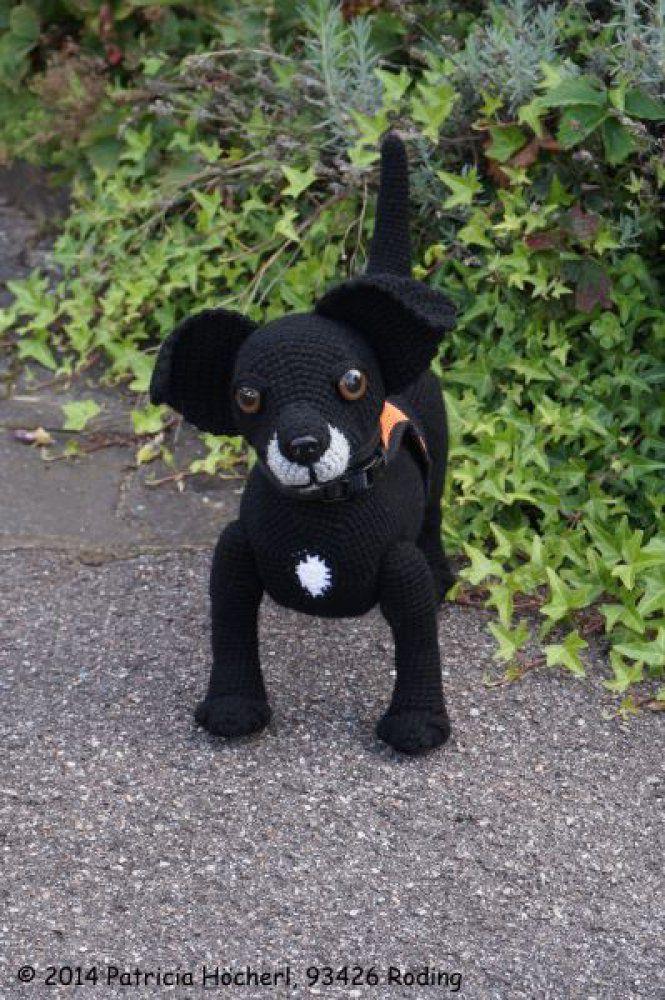 Schwarzer Hund zum häkeln … | Zukünftige Projekte | Pinterest ...