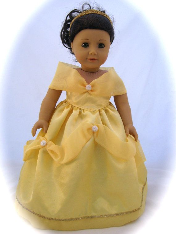 Belle, Beauty and The Beast Princess Dress fits American Girl Dolls ...