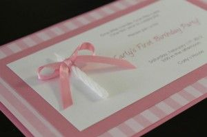 tutorials with supply lists for making your own birthday invites